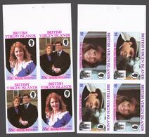 British Virgin Islands 1986 Mi# 550-53 (booklet Panes)** WEDDING OF PRINCE ANDREW AND SARAH FERGUSON - Iles Vièrges Britanniques