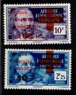 AEF France Libre Maury  N° 169/170 Neufs ** MNH. B/TB. A Saisir! - A.E.F. (1936-1958)