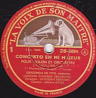 78 Trs - 30 Cm - Etat TB - 3 Disques - CONCERTO EN MI MAJEUR  (BACH)  1-2-3-4-5-6 Faces POUR VIOLON ET ORCHESTRE - 78 T - Disques Pour Gramophone