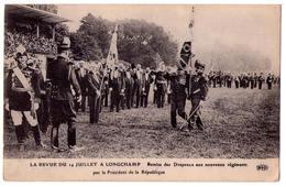 3414 - Revue Du 14 Juillet à Longchamp - Remise Des Drapeaux  Aux Nouveaux Régiments - - Manifestations