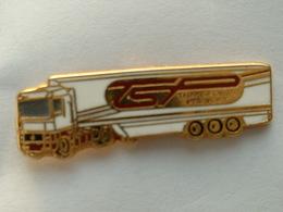 Pin's CAMION RENAULT - TRANSPORTS PREVOST - BOUSSEMART -  ZAMAC - Transports