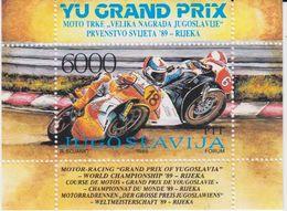 Yugoslavia 1989 Motor Racing YU Grand Prix M/s ** Mnh (41340M) - Blokken & Velletjes