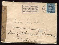 Belgique - Enveloppe De Bruxelles Pour La France En 1941 , Contrôle Postal - N273 - Belgium