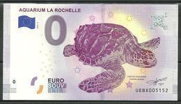 Billet Touristique 0 € 2018 : Aquarium De La Rochelle  Tortue - EURO