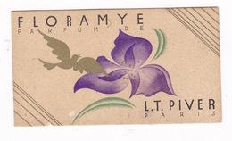 Jolie Petite Carte Agenda Année 1934 Parfum Floramye, L. T. Piver, Paris - Other