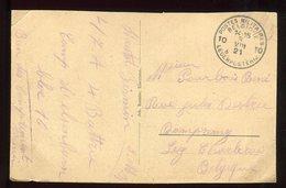 Belgique - Oblitération Militaire Sur Carte Postale - N276 - Postmark Collection