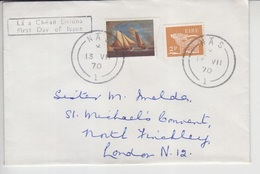 Ireland Airmail Cover To England, Red Cross   (A-446) - 1949-... Republic Of Ireland
