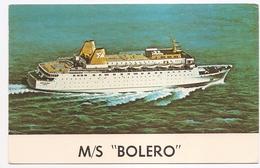 "M/S ""BOLERO"" - Piroscafi"