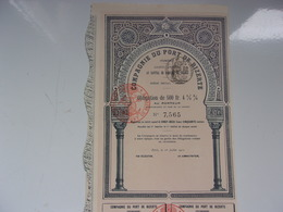 COMPAGNIE DU PORT DE BIZERTE (tunisie) 1912 - Actions & Titres