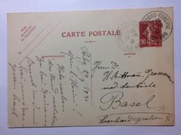 FRANCE - 1931 Postcard = Strasbourg Principal - To Basel Switzerland - France
