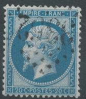 Lot N°45253  Variété/n°22, Oblit GC 3352 Sedan, Ardennes (7), Tache Bleu Au Dessus Du 0 De 20C - 1862 Napoleon III