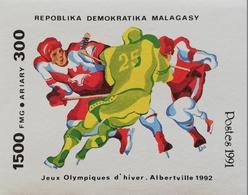 Madagascar 1991 Winter Olympics,Albertville  S/S - Madagascar (1960-...)