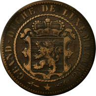Monnaie, Luxembourg, William III, 10 Centimes, 1854, Utrecht, TB+, Bronze - Luxembourg