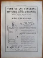 """1926 - Extincteur Incendie """"Pompe à Main""""  Ets QUIRLINE Au Havre  - Page Originale ARCHITECTURE INDUSTRIELLE - - Machines"""