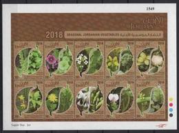 Jordan (2018) - MS -  /  Food - Flowers - Fiori - Fleurs - Culture Heritage - Vegetables - Alimentazione
