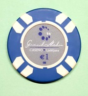 TOKEN JETON SLOVENIA  ( Casino Ljubljana 1 Eur) - Casino