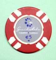 TOKEN JETON SLOVENIA  ( Casino Ljubljana 5 Eur) - Casino