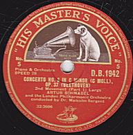 78 Trs - 30 Cm - Etat TB - CONCERTO N°3 IN C MINOR OP. 37 (BEETHOVEN)  ARTUR SCHNABEL (Part 1 Et 2) - 78 T - Disques Pour Gramophone