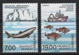 Danmark - Gronland (2002) Yv. 365/66  /  Ships - Fishes - Joint Issue - Gezamelijke Uitgaven