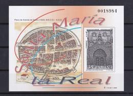 Nº 73 PRUEBA DE LUJO DE SANTA MARIA LA REAL DE ARANDA DE DUERO DEL AÑO 2000 - Ensayos & Reimpresiones