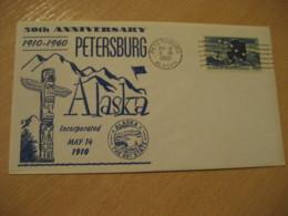 PETERSBURG Alaska AK 1960 TOTEM Cancel Cover USA - Vereinigte Staaten