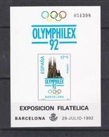 Nº 26 PRUEBA DE LUJO DE OLYMPHILEX EXPOSICION FILATELICA DE BARCELONA DEL AÑO 1992 - Ensayos & Reimpresiones