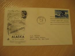 JUNEAU Alaska AK 1959 Statehood FDC Cancel Cover USA - United States