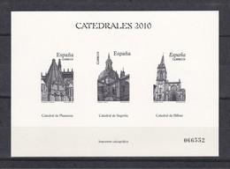 CATEDRALES 2010: PLASENCIA (CACERES), SEGOVIA Y BILBAO, IMPRESIÓN CALCOGRÁFICA - Ensayos & Reimpresiones