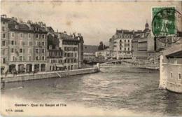Geneve - Quai Du Seujet Et L Ile - GE Genf