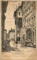 Geneve - Rue De La Cite - Künstlerkarte Helene Hantz - GE Genf