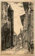 Geneve - Rue De Ruits - Künstlerkarte Helene Hantz - GE Genève