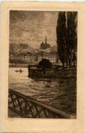 Geneve - L Ile Rousseau - GE Genf