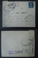 FRANCE Lettre 1917 Vers ESPAGNE Censure Militaire 352 Paris Bilbao Timbre Semeuse Guerre 1914-1918 WW1 - Poststempel (Briefe)