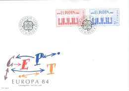 Sweden 1984; FDC Europa Cept, Michel 1270-1271. - FDC