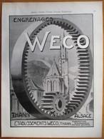 1926 - Engrenage  WECO    - Thann   Alsace - Page Originale ARCHITECTURE INDUSTRIELLE - - Machines