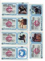 Italia - Lotto Di 6 Miniassegni Emessi Dalla Cassa Rurale Di Predazzo E Ziano Nel 1978 - (FDC13016) - [10] Assegni E Miniassegni