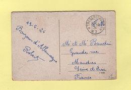 Tresor Et Postes 47 - 24-5-1924 - Allemagne - Marcophilie (Lettres)