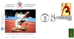 """ J.O. ATLANTA / USA 1996 : GYMNASTIQUE ""  Sur Enveloppe 1er Jour De 21 Cm X 11 Cm. Parfait état. FDC - Gymnastics"