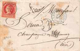 ESPAGNE 1862  -  Cachet  ESP 4 Saint Jean De Luz + TIMBRE 12 CUARTOS - Poststempel - Freistempel