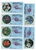 Italia - Lotto Di 6 Miniassegni Emessi Dalla Cassa Rurale Di Predazzo E Ziano Nel 1978 - (FDC13017) - [10] Assegni E Miniassegni