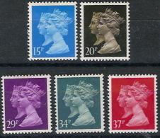 Gran Bretaña 1434/1438 ** MNH. 1990 - 1952-.... (Elizabeth II)