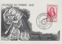Carte  Locale   Journée   Du  TIMBRE    NICE    1947 - Stamp's Day