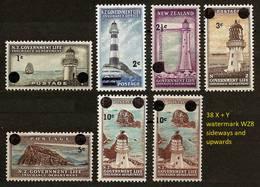 NEW ZEALAND 1967 - LIFE INSURANCE / LIGHTHOUSES - Nw Val. 6v Compl. Mi 33-38 MH * Mint Cv±€19,00 K600m - Nouvelle-Zélande