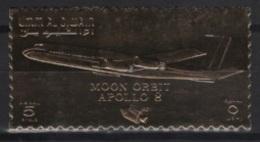 Umm Al Qiwain (1969)  Mi. 409A  /  Espace - Space - Apollo 8 - UNUSUAL Gold - Espacio