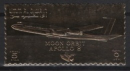 Umm Al Qiwain (1969)  Mi. 409A  /  Espace - Space - Apollo 8 - UNUSUAL Gold - Azië