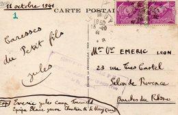 CHANTIERS DE LA JEUNESSE  C.p DeMUY  CAMP N)16  Avec Griffe - Marcophilie (Lettres)