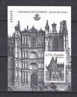 Nº 101 PRUEBA DE LUJO DE LA CATEDRAL DE PLASENCIA DEL AÑO 2013 EN SU FUNDA ORIGINAL - Ensayos & Reimpresiones