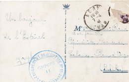 CHANTIERS DE LA JEUNESSE  C.p Du Var   CAMP N°11 - Marcophilie (Lettres)