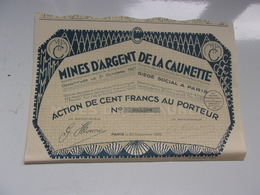 MINES D'ARGENT DE LA CAUNETTE (100 Francs) - Zonder Classificatie