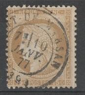 FRANCE  1877   N° YT 55    -    Cote 5 Euros    -    Petit Cachet  Mont De Maesan - 1871-1875 Cérès
